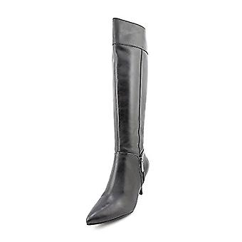 Ellen Tracy Harvard Womens Size 6 Black Leather Fashion Knee-High Boots