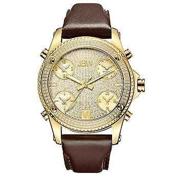 JBW gentlemen 1.36 ct diamond watch - JET SETTER gold / Brown