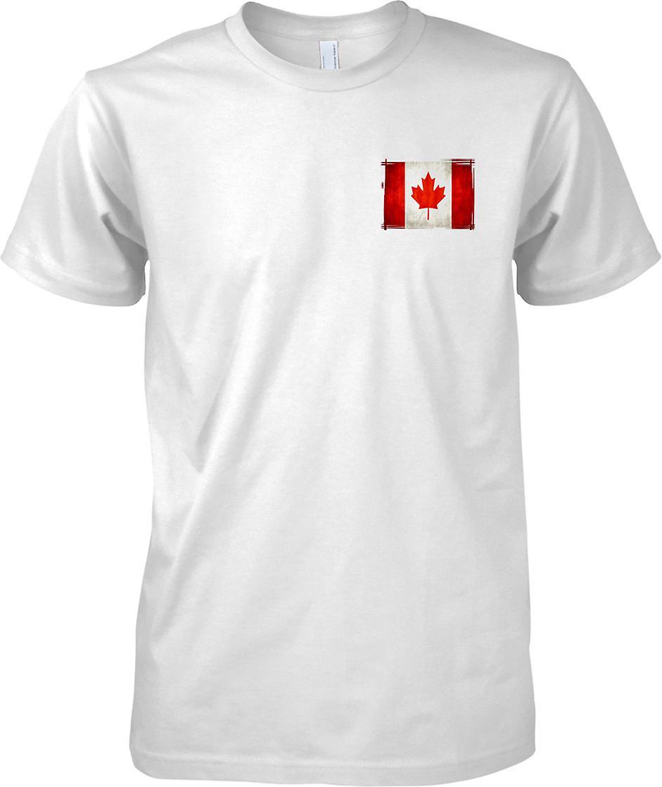 カナダ グランジ効果フラグ - メンズ胸部デザイン t シャツ