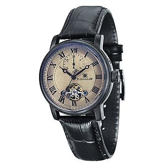 Thomas Earnshaw Es-8042-06 Westminster Grey & Black Leather Automatic Men's Watch
