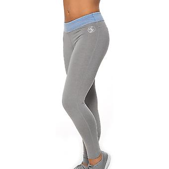 Bad Girl Long Fitness Tights - Charcoal Marl/Blue Marl