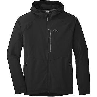 Outdoor Research Mens Ferrosi Hooded Jacket Black (Large)