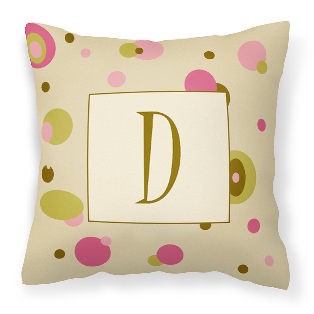 Monogramme D InitialeTan Décoratifs Toile Points Tissu Lettre Oreiller uOPkZiX
