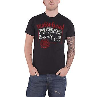 Motorhead T Shirt Stamped Warpig Seal Band Logo Official Mens New Black