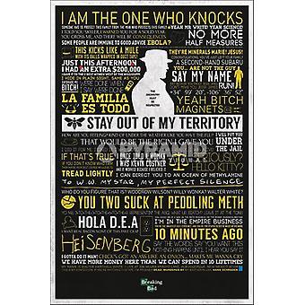 Breaking Bad - clásico cotiza impresión de cartel de cartel por