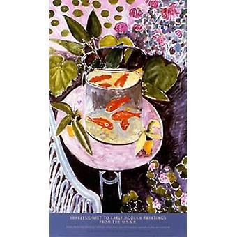 Goldfish Poster Print by Henri Matisse (23 x 40)