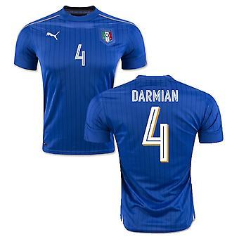 2016-2017 Italy Puma Home Shirt (Darmian 4)