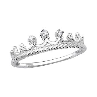 Kroon - 925 Sterling Zilver Jewelled ringen