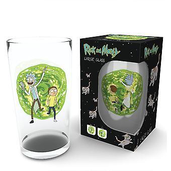 Rick And Morty Portal Pint Glass
