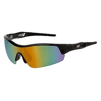 Schmutzige Sport Hund Rand Sonnenbrille - schwarz