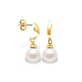 Buckles of ears Pearl of Culture of freshwater white and yellow gold 375/1000