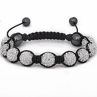 Iced out unisex bracelet - disco ball NINE silver