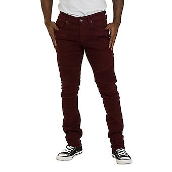 Skinny Fit Mens Jeans - Red wine Slim fit Jeans with stretch Mens Pants