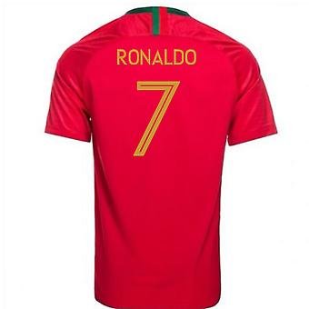 2018-2019 पुर्तगाल घर नाइके फुटबॉल शर्ट (रोनाल्डो 7)