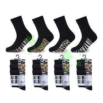 Ladies Fashion Half Animal Skin Socks 4-6 Size 12 Pairs