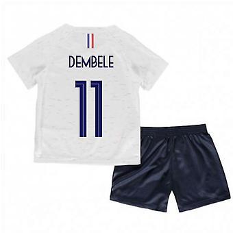 2018-2019 France Away Nike Little Boys Mini Kit (Dembele 11)