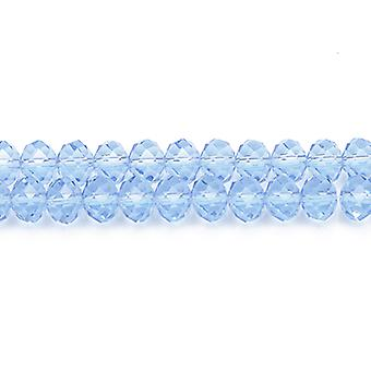 90+  Pale Blue Czech Crystal Glass 3 x 4mm Faceted Rondelle Beads GC8848-1