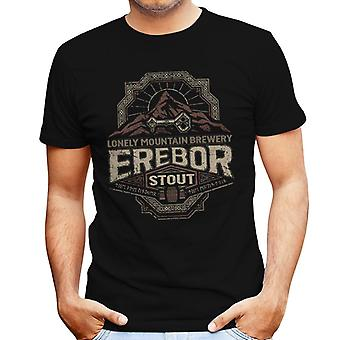 The Hobbit Lonely Mountain Brewery Erebor Stout Men's T-Shirt