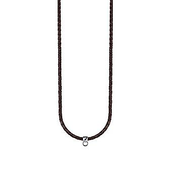 ESPRIT Ladies Leather Brown silver Charmskette chain 75 cm ESNL92070B750