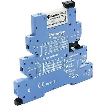 Finder 39.31.0.024.0060 - MasterPLUS Electromechanical Relay Interface Module, EMR, SPDT-CO 250V AC 6A