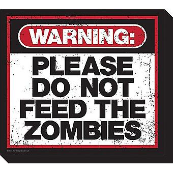 Please Do Not Feed The Zombies Chunky Thick Fridge Magnet