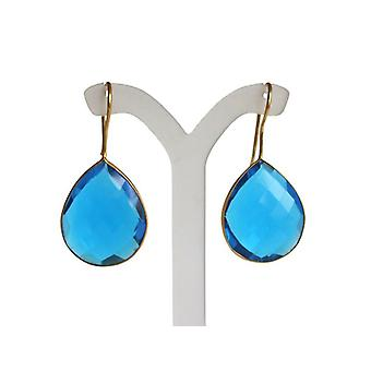 Blautopaz blue Topas earrings gems blue gold
