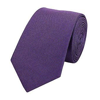 Schlips Krawatte Krawatten Binder Breit 6cm Violett einfarbig Fabio Farini