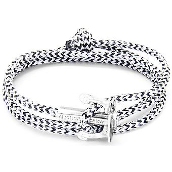 Anchor and Crew Union Silver and Rope Bracelet - White Noir