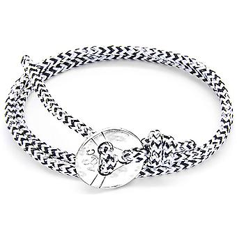 Anchor and Crew Lerwick Silver and Rope Bracelet - White Noir