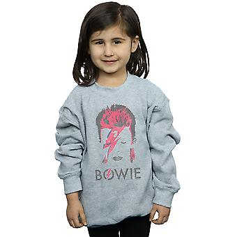 David Bowie Girls Aladdin Sane Distressed Sweatshirt