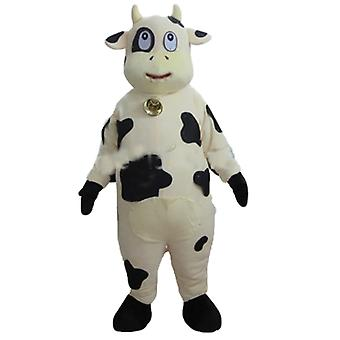SPOTSOUND of white and black, giant cow mascot