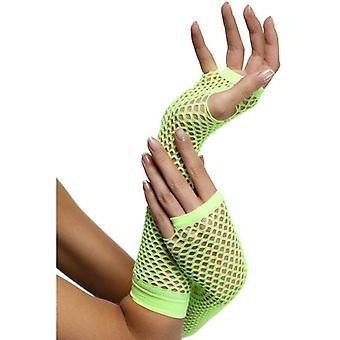 Smiffy's Fishnet handsker Neon grøn