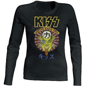 Kiss -Hotter Than Hell Women Longsleeve T-Shirt