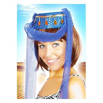 Niebieski kobiet haremu kapelusz kapelusze