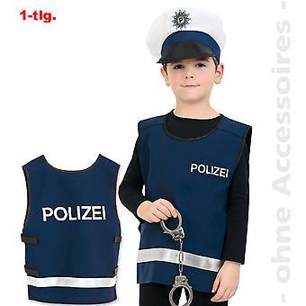 Traje de policía policía niños chaleco chaleco de uso traje del poli de niño