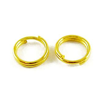 Packet 750+ Antique Gold Plated Iron Round Split Rings 0.7 x 4mm HA12115