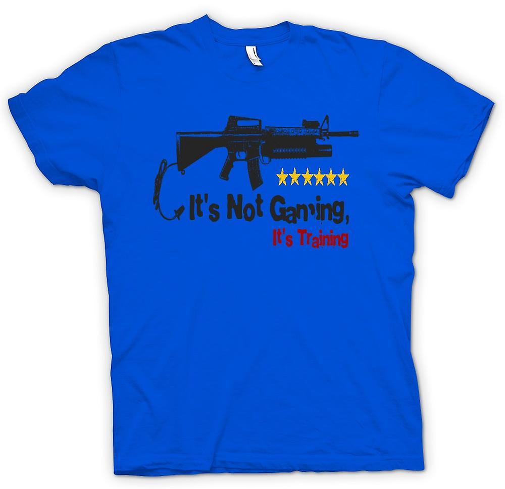 T-shirt des hommes - Il est pas Gaming Il est Formation - Drôle