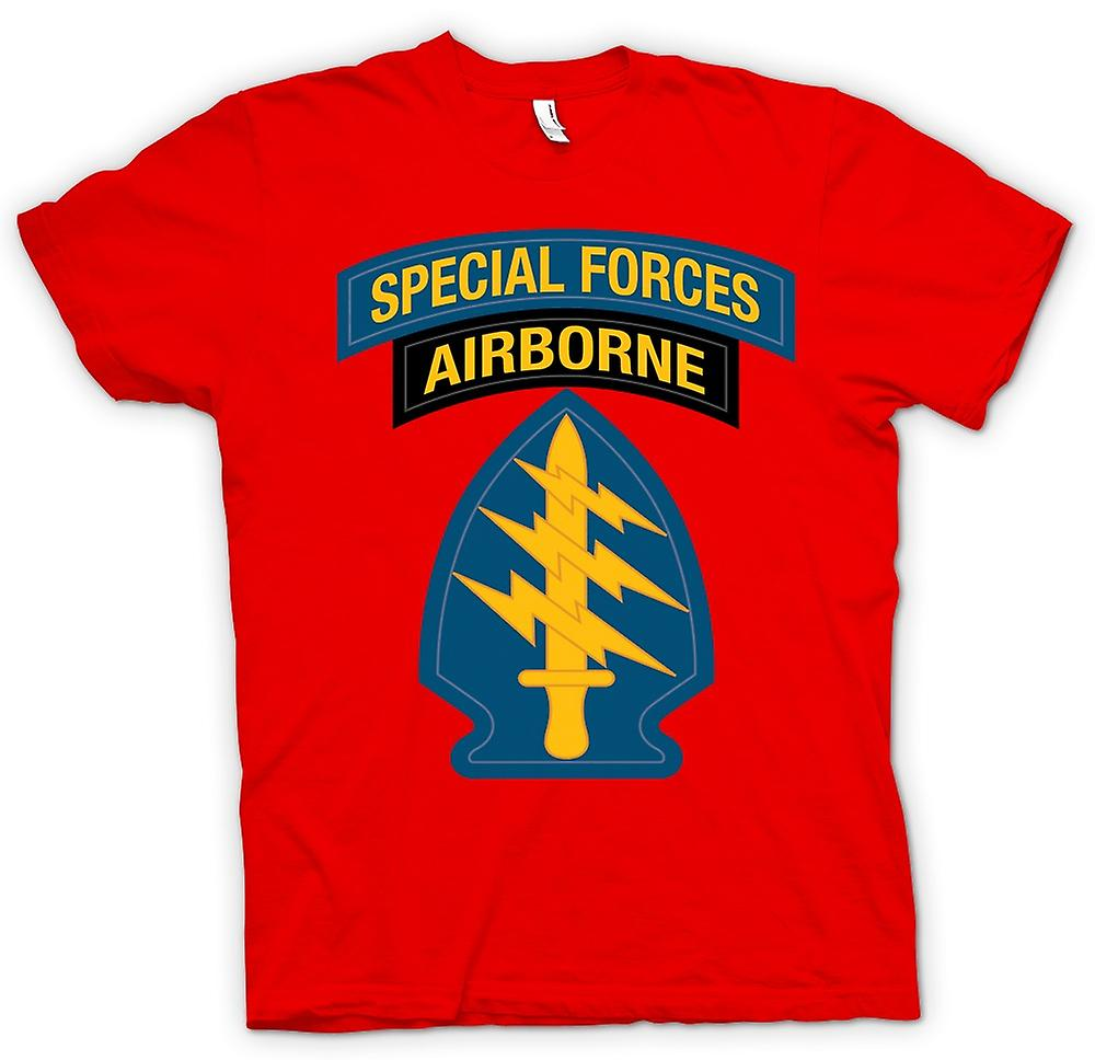 Herr T-shirt-grön basker Special Forces