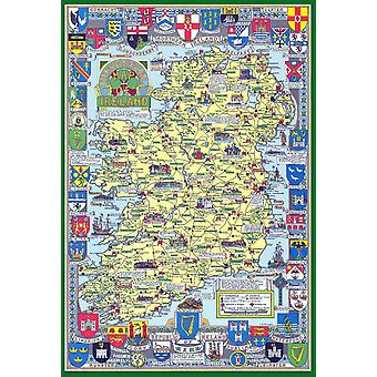 Historical Map Of Ireland 1000 Piece Jigsaw Puzzle (jg)
