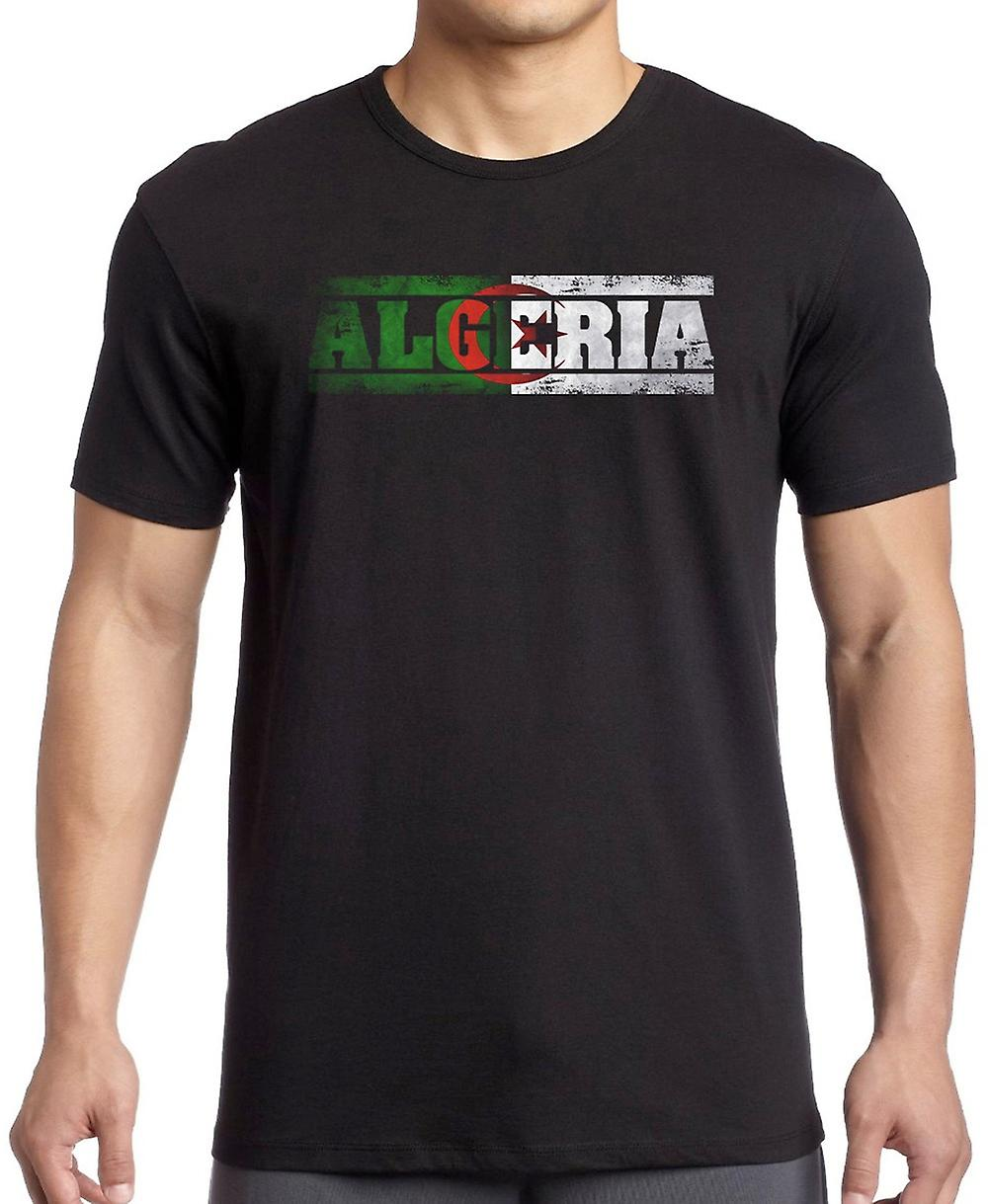 Algerian Algeria Flag - Words T Shirt