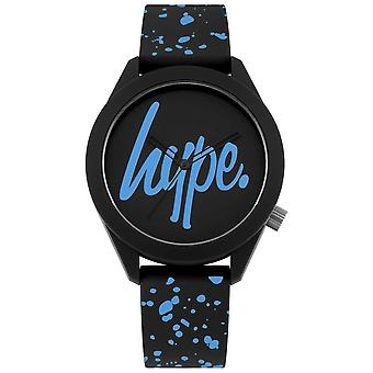 Hype | Mens Black And Blue Silicone Strap | Black/Blue Dial | HYG003BU Watch