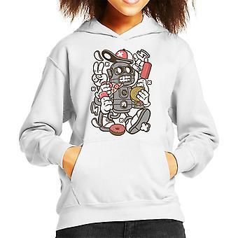 Junk Food Robot Kid's Hooded Sweatshirt