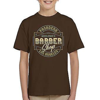 Pasadena Gentlemens Barber Shop Los Angeles Kid's T-Shirt