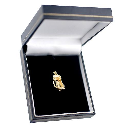 9ct Gold 20x8mm Vintage Car Pendant or Charm