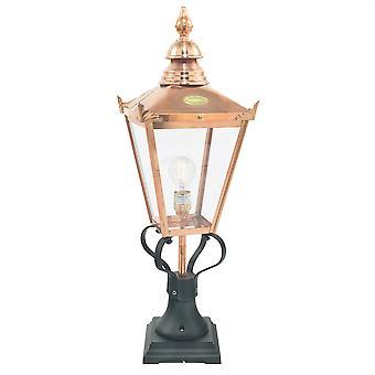 Chelsea Outdoor Grande Pedestal Lantern - Elstead Lighting Csg3 COPPER