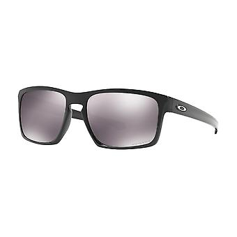 Oakley OO9262 46 Polished Black Sliver Square Sunglasses Lens Category 3 Lens Mirrored Size 57mm