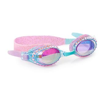 Girls blue and pink fun sparkly swimming goggles