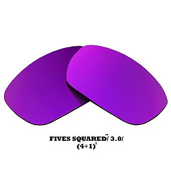 FIVES SQUARED Replacement Lenses Purple Mirror by SEEK fits OAKLEY Sunglasses