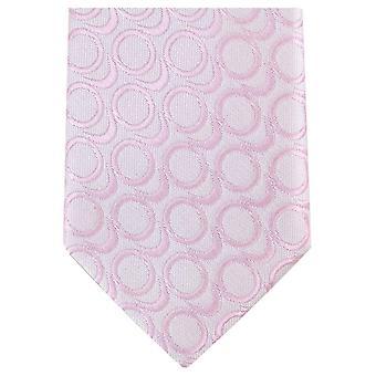 Knightsbridge Neckwear Abstract Skinny Polyester Tie - Light Pink