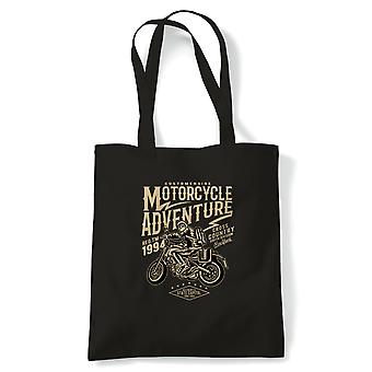 Motorcycle Adventure | FunnyTote Bag |Looking Good Old Handsome Biker Classic Racer Race Confidence Motorbike | Multiple Colours Available